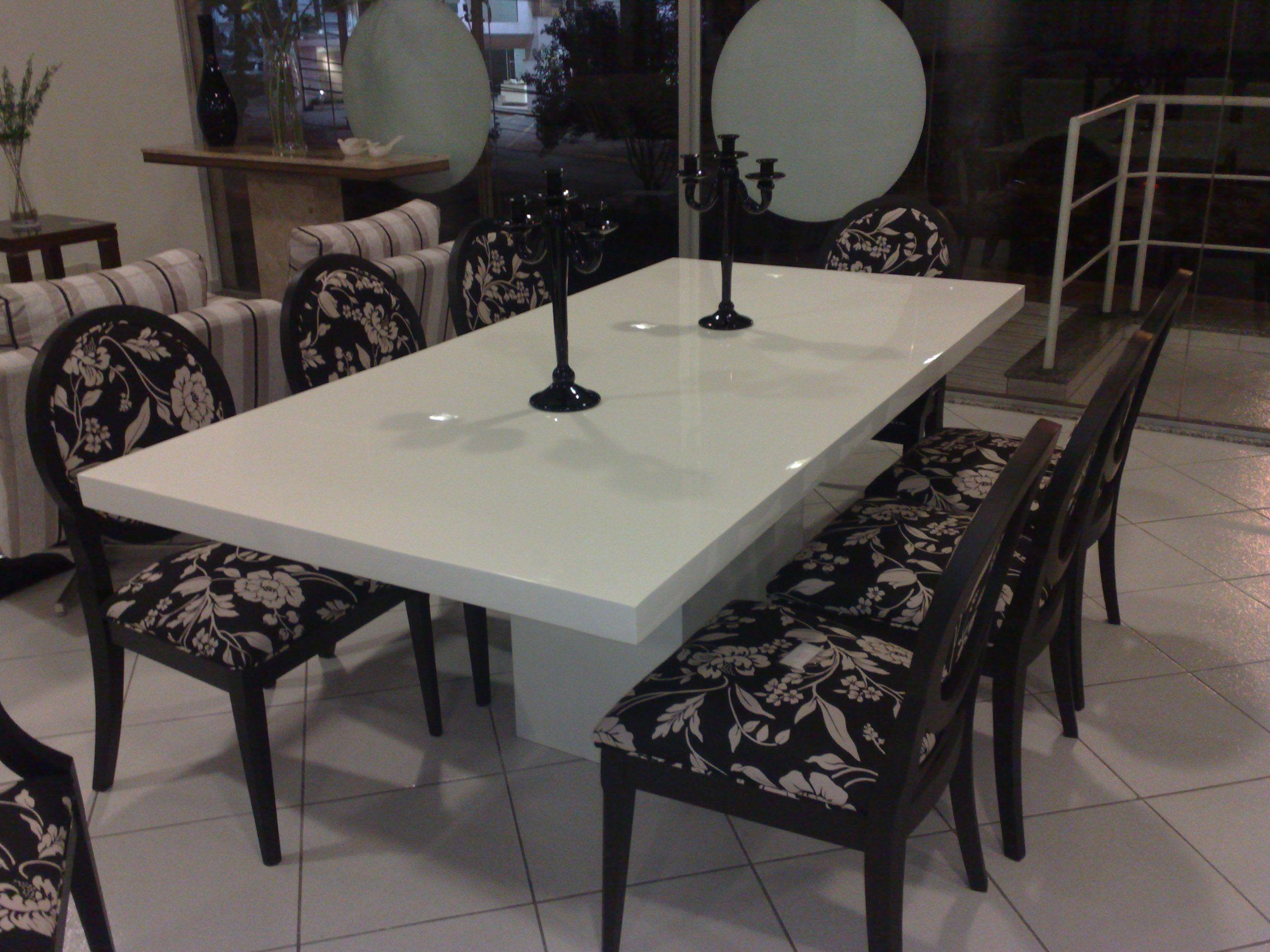Mesa De Jantar Em M Rmore Resinada Sala De Jantar Pinterest  -> Sala De Jantar Pequena Com Mesa De Marmore