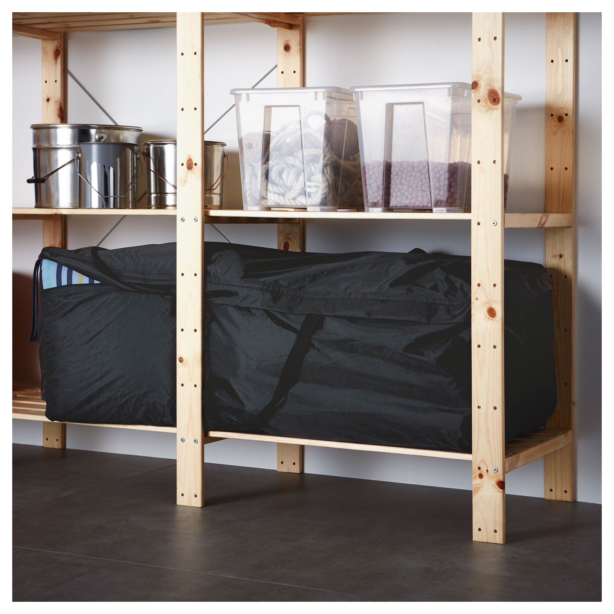 Ikea Tostero Storage Bag For Pads And Cushions Black In 2019