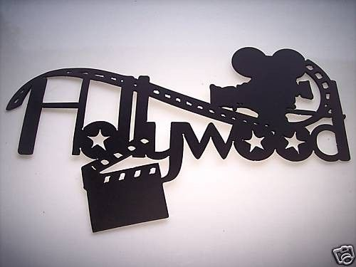 Home Theater Decor Hollywood, Movie Camera And Clapboard Metal Wall Art