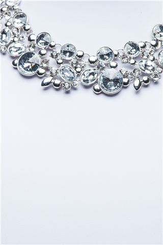Zara Silver Statement Necklace at misspap.co.uk