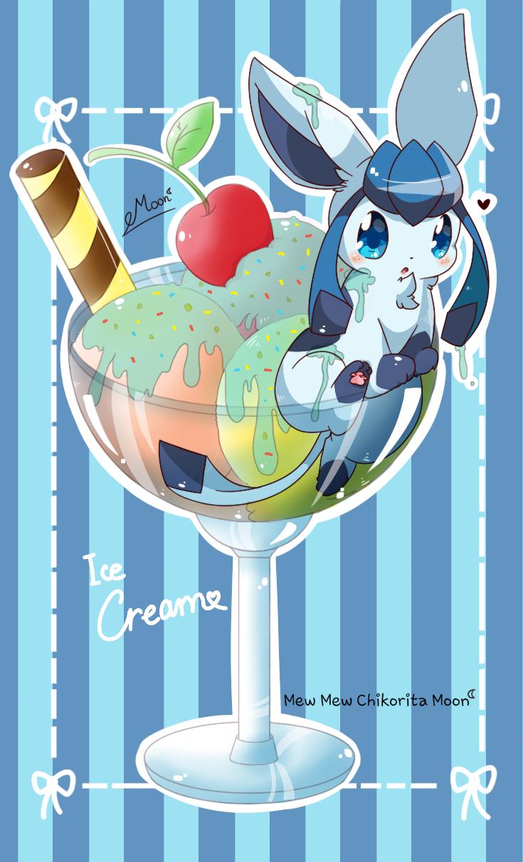 Glaceon Ice Cream by ChikoritaMoon.deviantart.com on @DeviantArt ... for Ice Cream Pokemon Evolution  75tgx