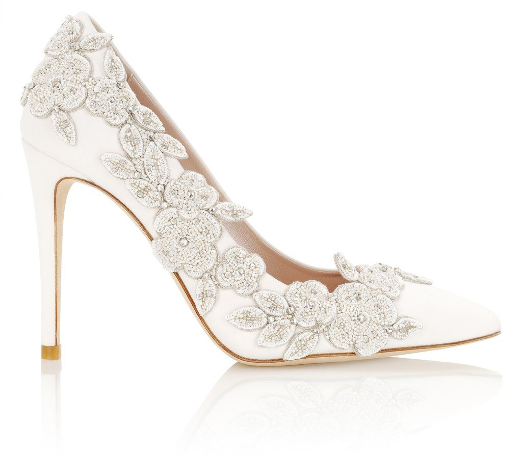 Isadora Ivory Bridal Shoes Designer Wedding Shoes Lace Bridal