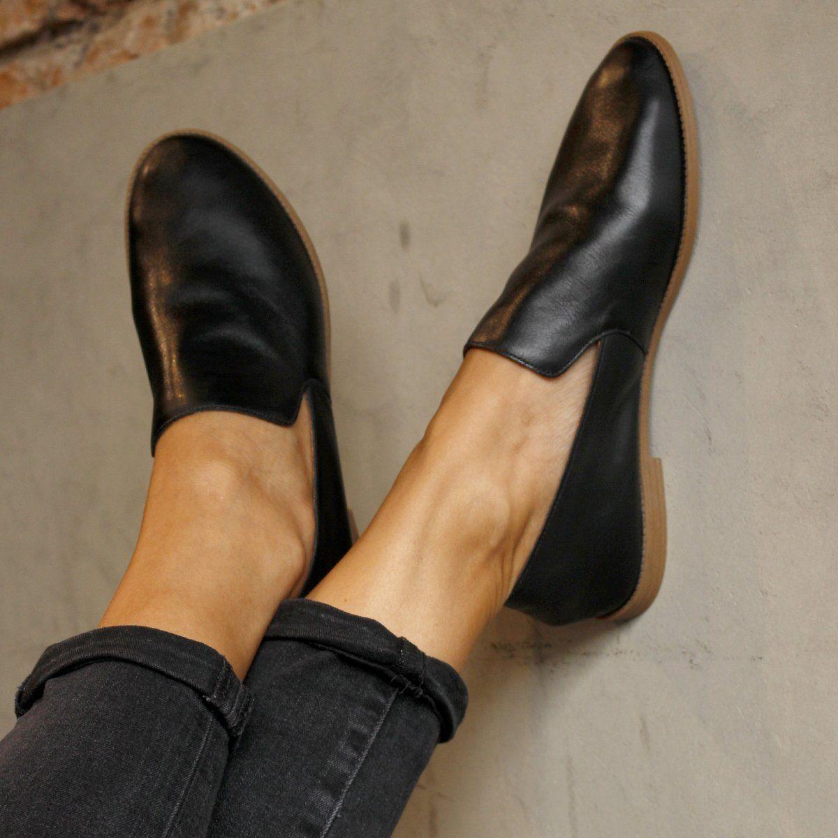 9113de211 SLIPPER COURO - Preto - Slipper Couro - Wishin´ - Sapatos Femininos -  Confira!