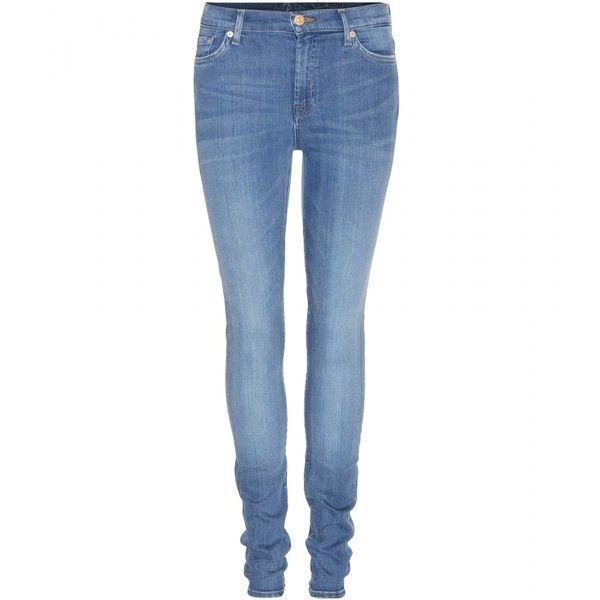 Seven For All Mankind High-Waist Skinny Jeans found on Polyvore