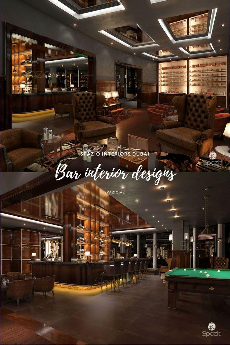 Bar Interiors Design. Modern Bar Interior Design In Dubai Uae. Luxury  Contemporary Club.