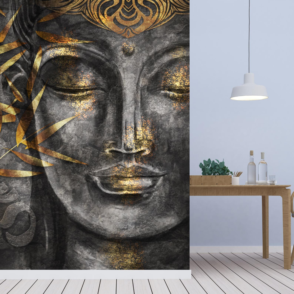 Removable Wallpaper Custom Wallpaper Peel And Stick Wall Decor Etsy Buddha Painting Buddha Wall Art Buddha Art Painting