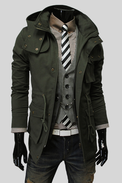 5fd5e62ea9e Dark olive green trench  fashion     men     mensfashion