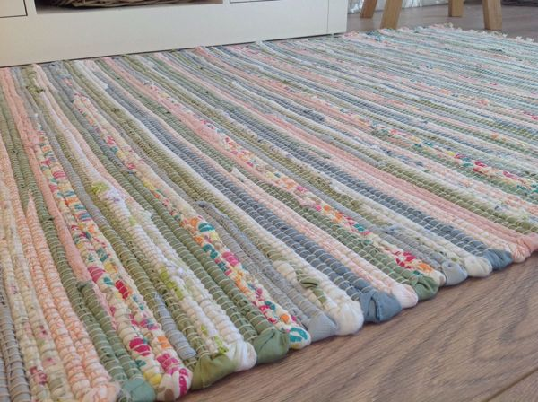 Recycled Pastel Light Multi Colours Soft Washable Cotton Rag Rug A Lovely Hand Loomed Fair