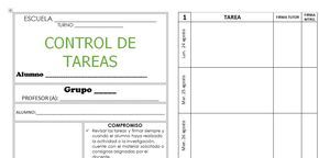 Formato Para Llevar El Control De Las Tareas Diarias Tarea Escolar Registro De Tareas Planificador De Tareas