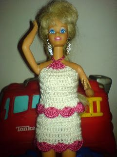 I learned to crochet as a kid to make Barbie outfits.  Mine weren't as good, but Barbie seemed to like them.