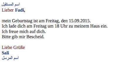 كتابة الخطاب باللغة الالمانية اربع نماذج لكتابة الخطاب تعلم الالمانية بسهولة Math Math Equations