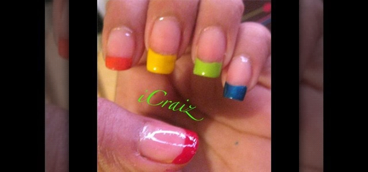 rainbow nail tips - Google Search | Varnished | Pinterest