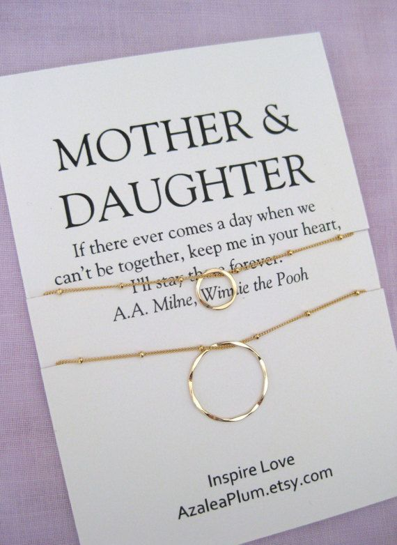 Mom MOTHER Daughter Jewelry 50th Birthday Gift Mother