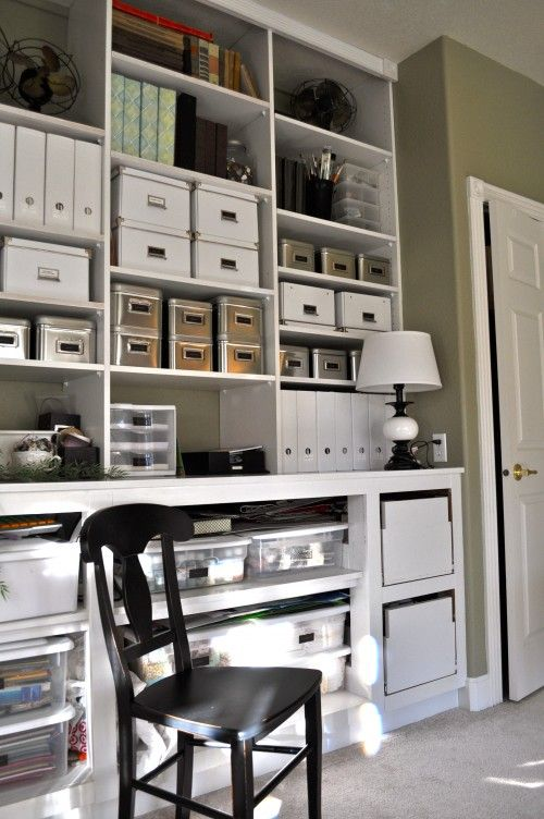 organize, organize, organize --- some spaces must be organized...the rest can be cluttered