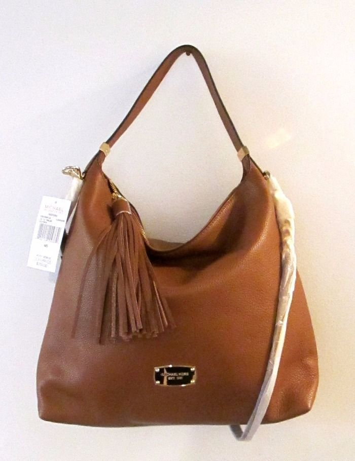 MICHAEL KORS Bedford LARGE TZ TASSEL SHOULDER BAG Hobo ~ LUGGAGE Brown  ~New NWT  MichaelKors  ShoulderBag 06443d1baa5