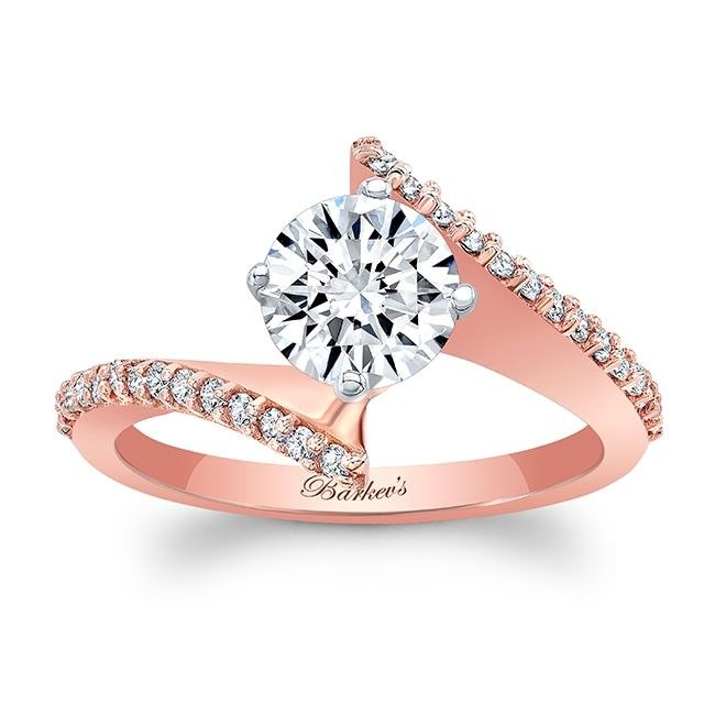 Barkev's Bypass Rose Gold Engagement Ring 8073LP