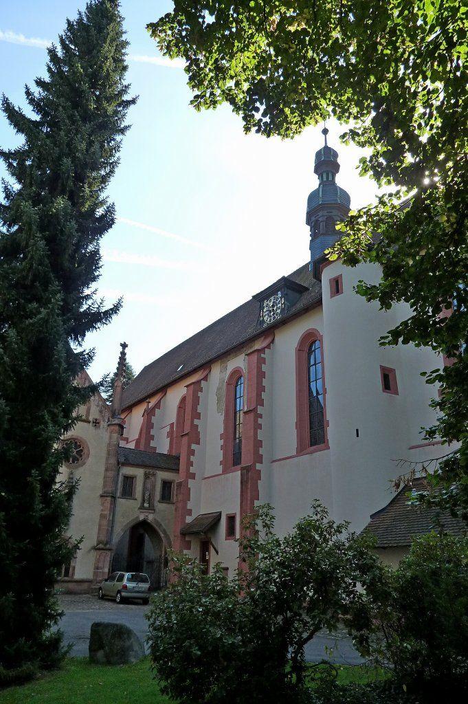 Lichtenthal, die gotische Klosterkirche aus dem 14. und 15.Jahrhundert, Sept.2011