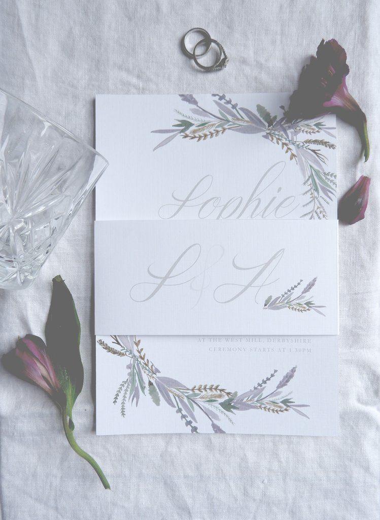 Wild Lavender Bundle Invitation, Information Card, RSVP