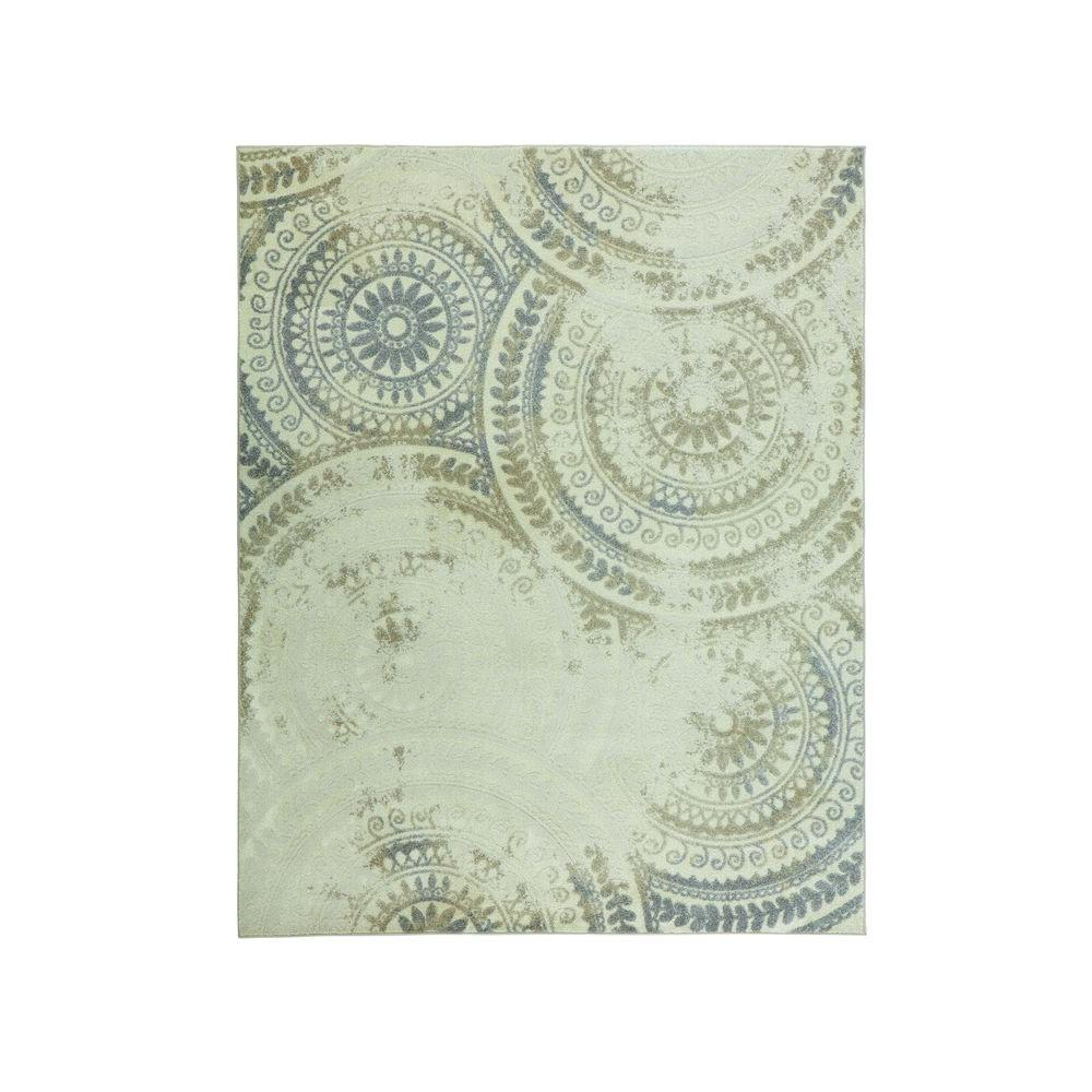 Best Home Decorators Collection Spiral Medallion Ivory 8 Ft X 640 x 480