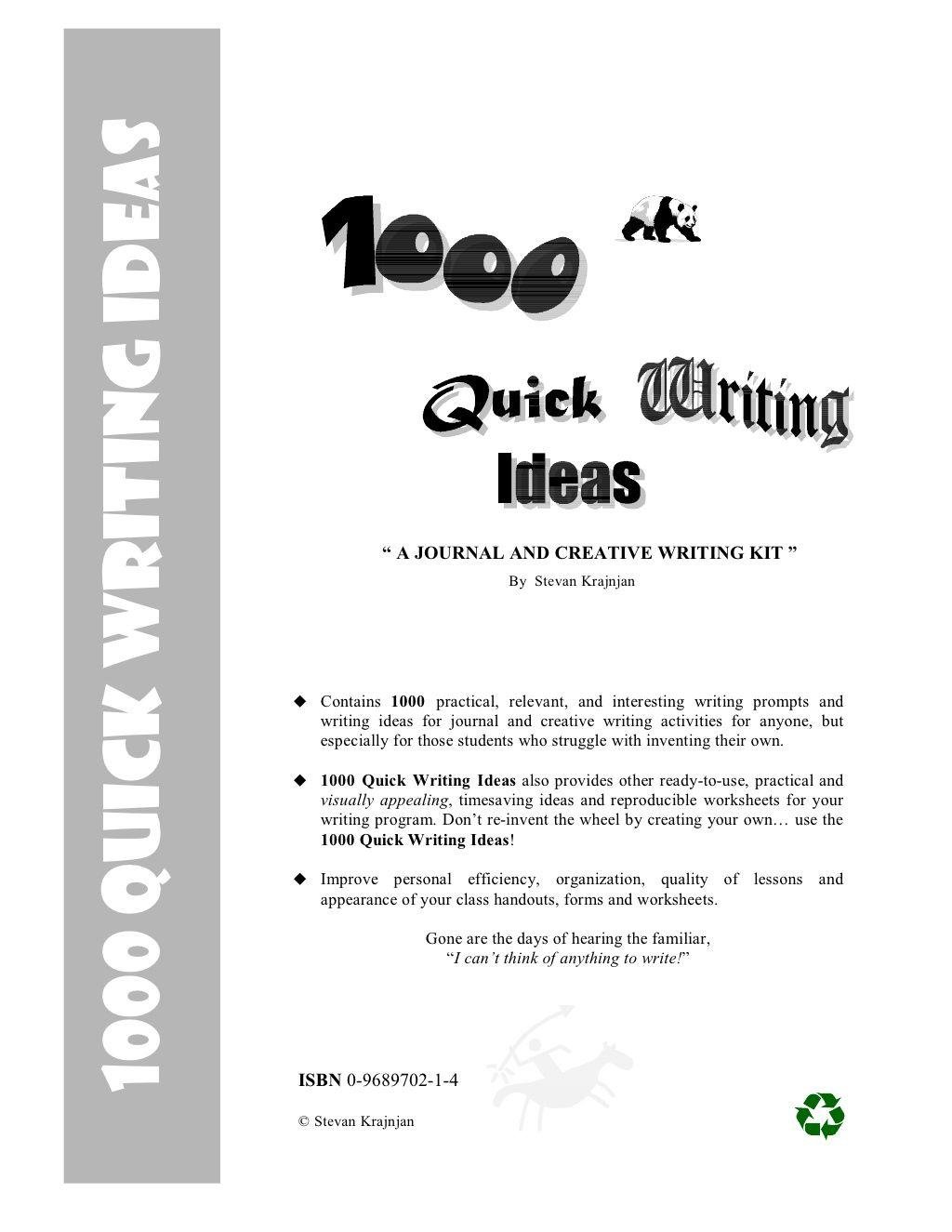 Quick Writing Ideas