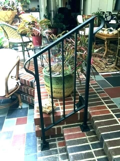 Outdoor Wrought Iron Stair Railing Railings For Steps | Wrought Iron Handrails Near Me