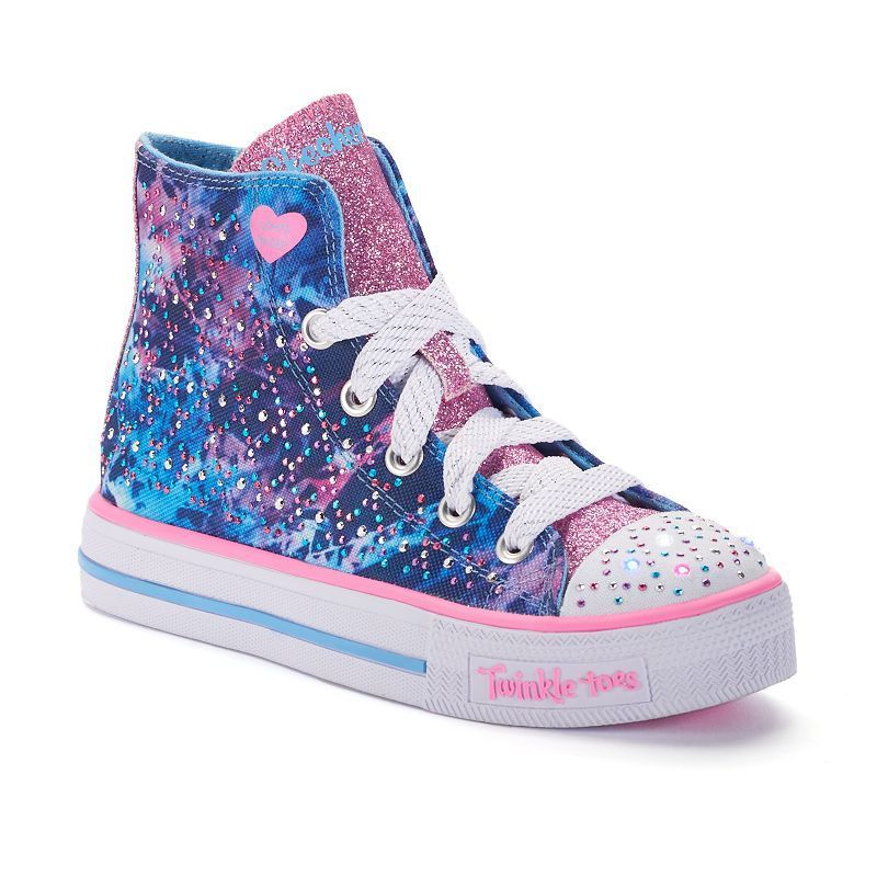 ca657f3906 Skechers Twinkle Toes Studded Steps Girls  Light-Up High-Top Sneakers
