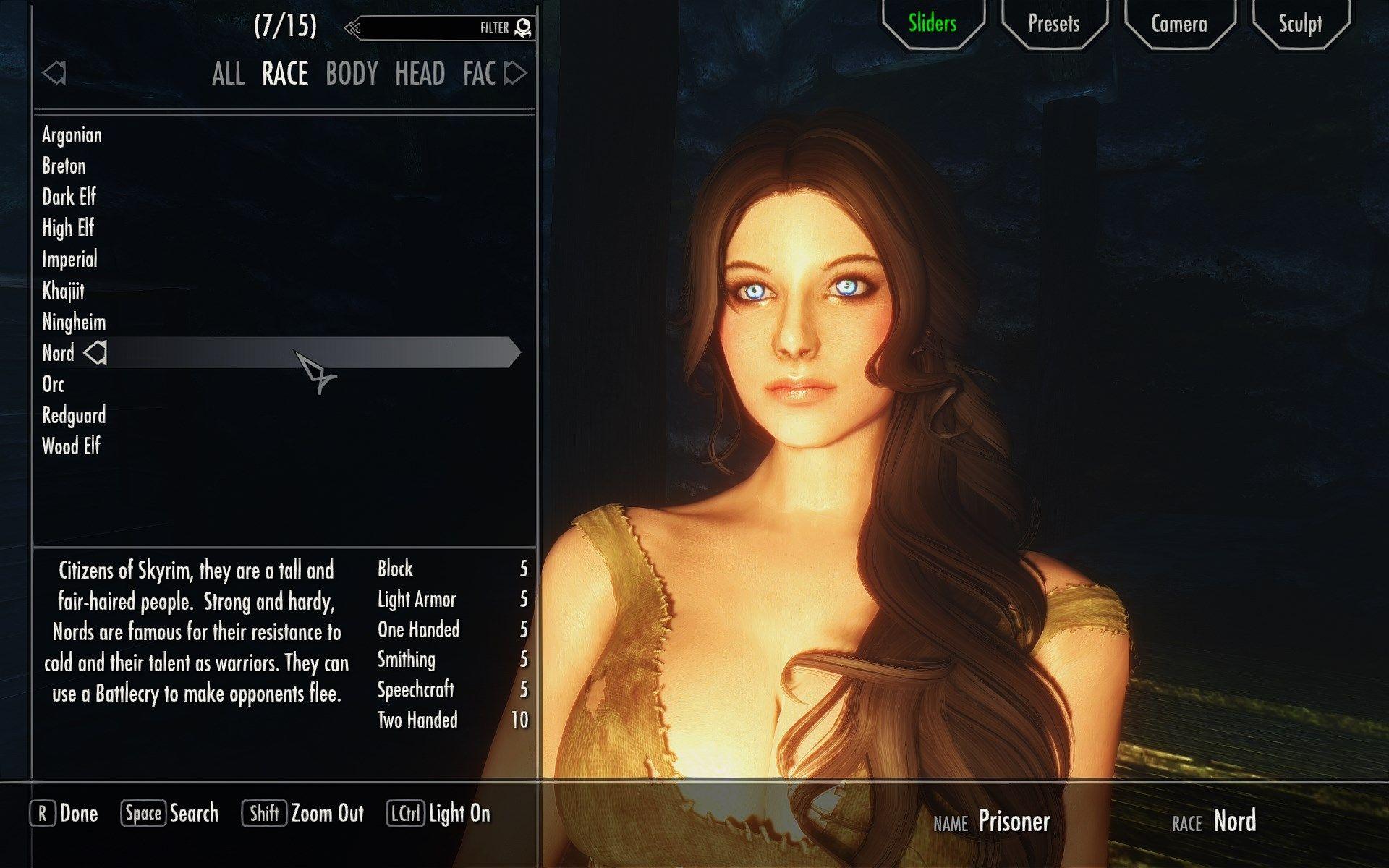 RaceMenu at Skyrim Nexus - mods and community | Skyrim
