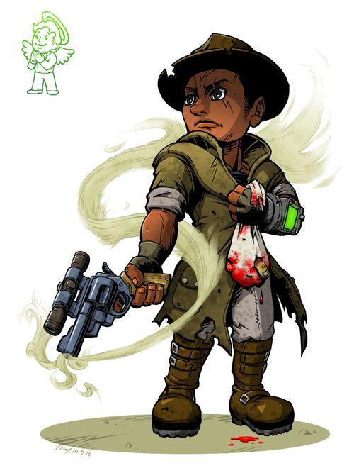 Fallout 3 Anime Characters : Fallout character art by hirekatsu dokoro post