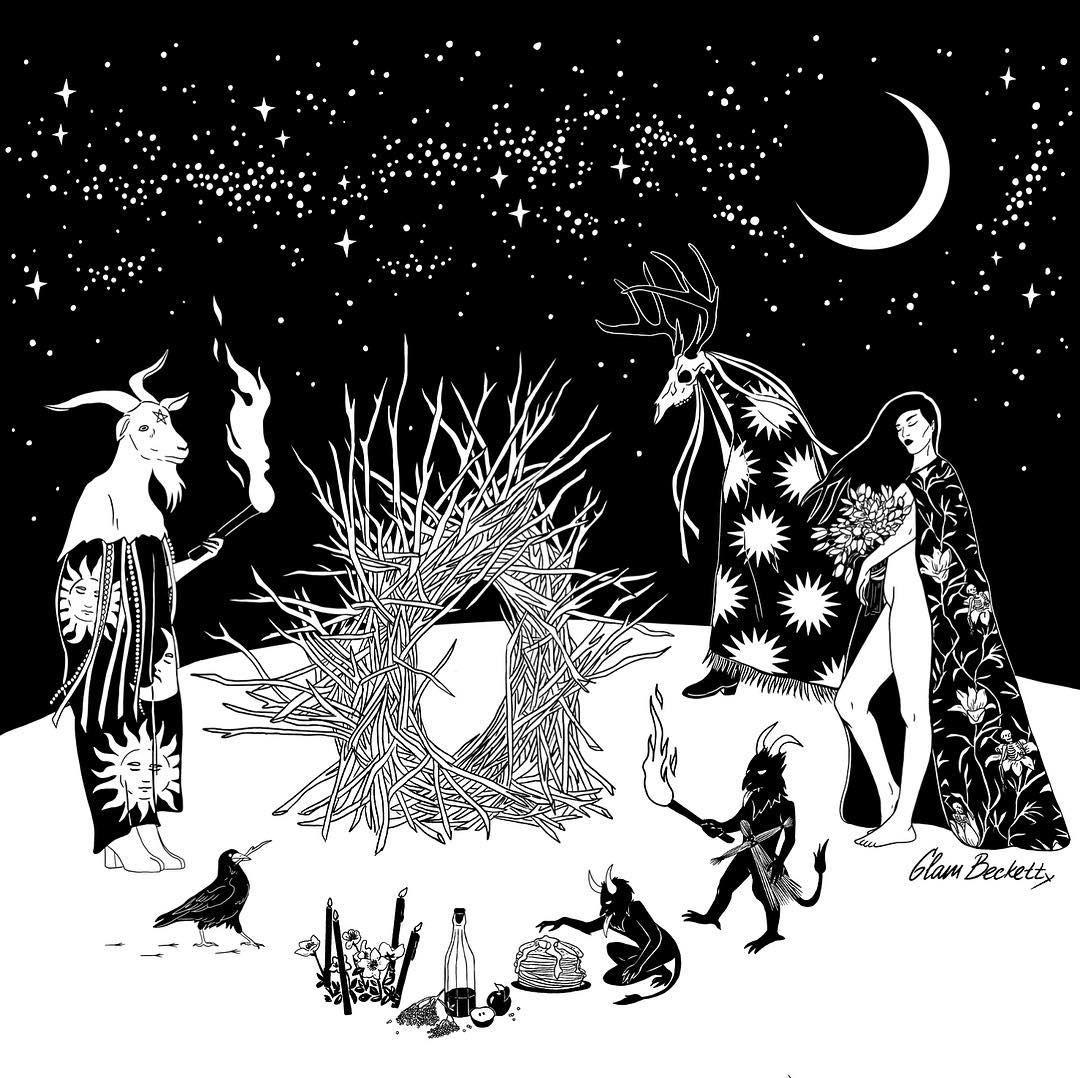 Масленица / Spring Bonfire 🔥🥞illustration art darkart