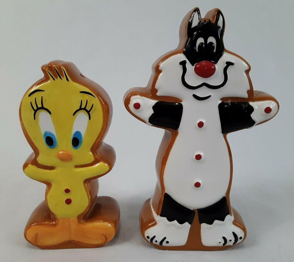 Looney Tunes Tweety /& Silvester Salt /& Pepper Shakers