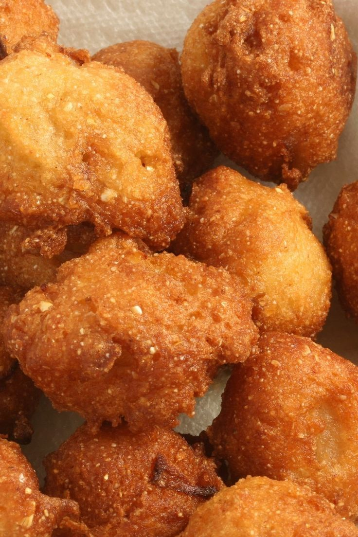 Fried Southern Hush Puppies Recipe with egg, sugar, onion