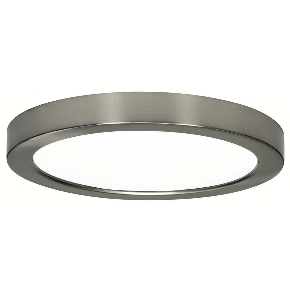 Design Classics Lighting Inch Round Nickel Low Profile LED - Low profile kitchen ceiling lights