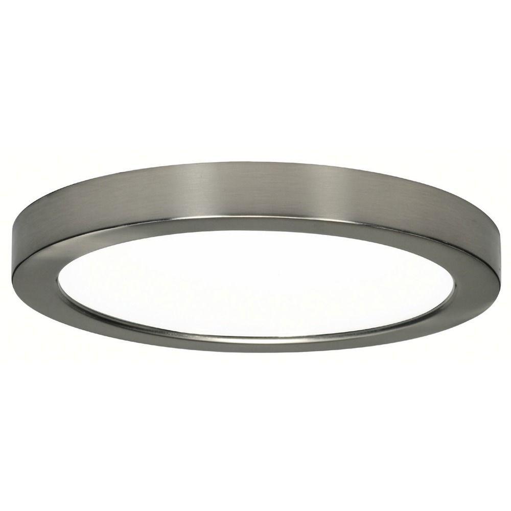 Low Profile Led Recessed Lighting Prepossessing Design Classics Lighting 9Inch Round Nickel Low Profile Led Inspiration Design