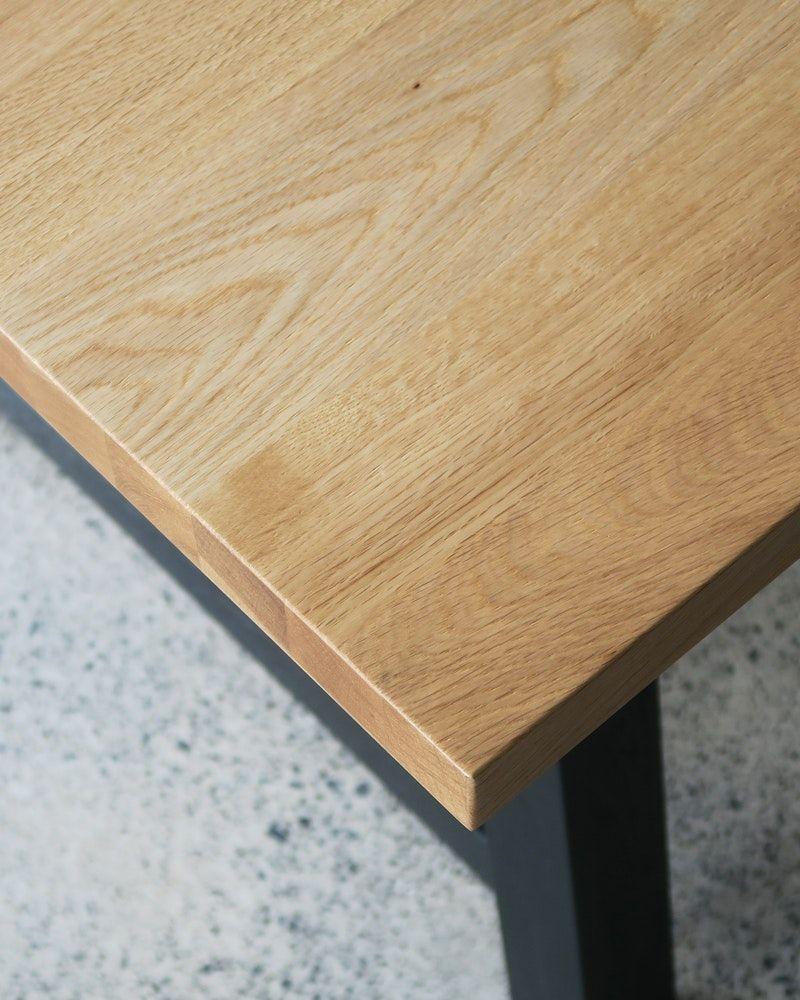 Idaho Oak Veneer Table 200x100cm Natural Black Legs Table Ideas In 2019 Modular Table Table Wooden Tables
