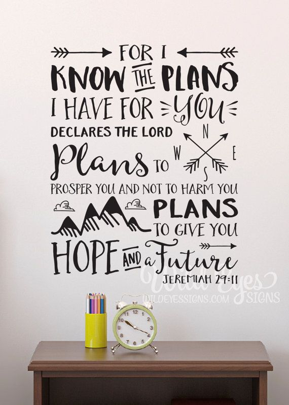 Jeremiah 29 11 For I Know The Plans I Have For You Explorer Etsy I Know The Plans Vinyl Wall Decals Nursery Explorer Nursery