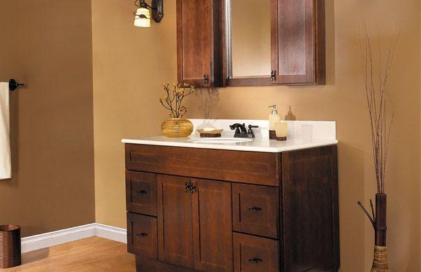 Java shaker doors semi custom bathroom cabinets - Semi custom bathroom vanity cabinets ...