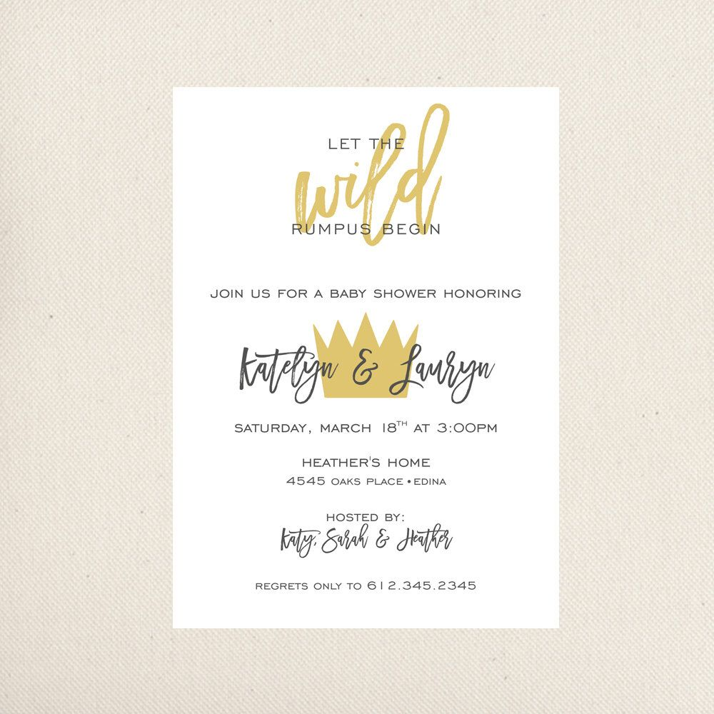 Where The Wild Things Are Baby Shower Invitation by prettygirlshop ...