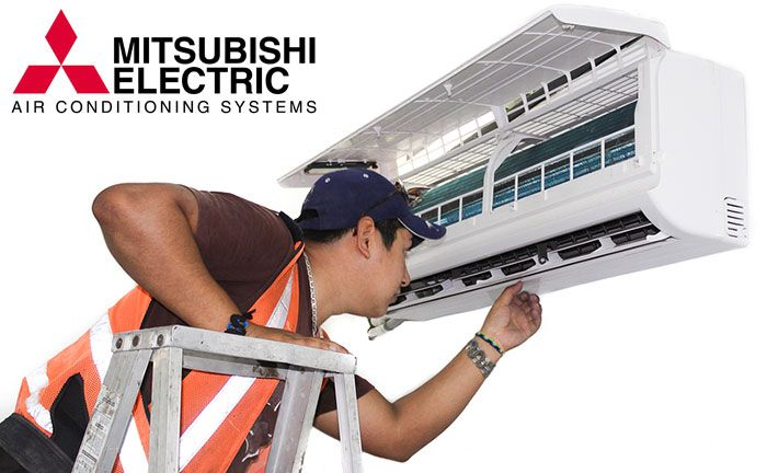 Tech Cleaning A Wall Mount Mitsubishi Ductless Unit Www Air Ease
