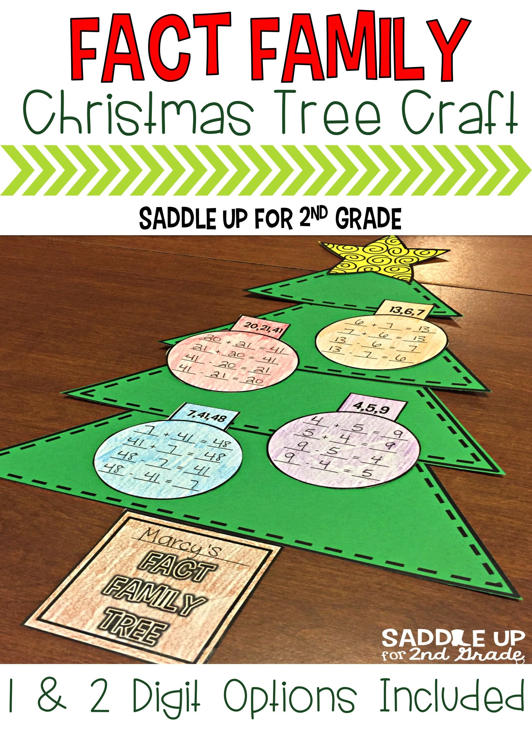 Are you looking for a fun, easy way to review fact families over the holidays? This product does just that. There is practice for single and double digit fact families. It includes 4 pages of single digit fact families, 4 pages of double digit fact families, and a Christmas tree craftivity template.