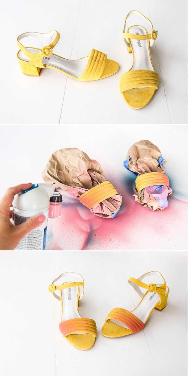 ff334783174a How to ombre your shoes for spring   summer (and other DIY shoe makeover  ideas). Click through for all 3 tutorials. In partnership with  testorcorp.