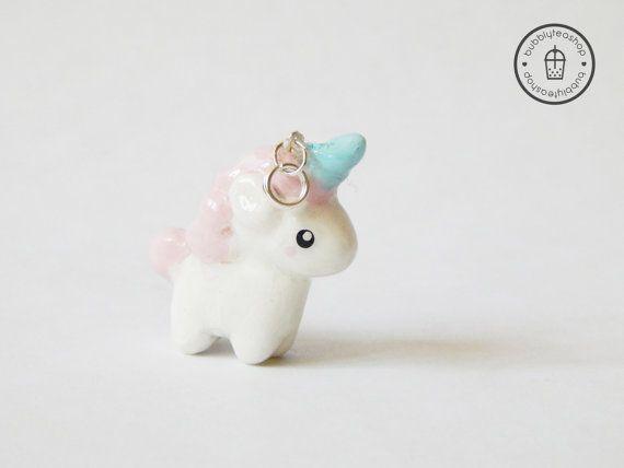 Unicorn Polymer Clay Charm Unicorn Charm Unicorn Figurine