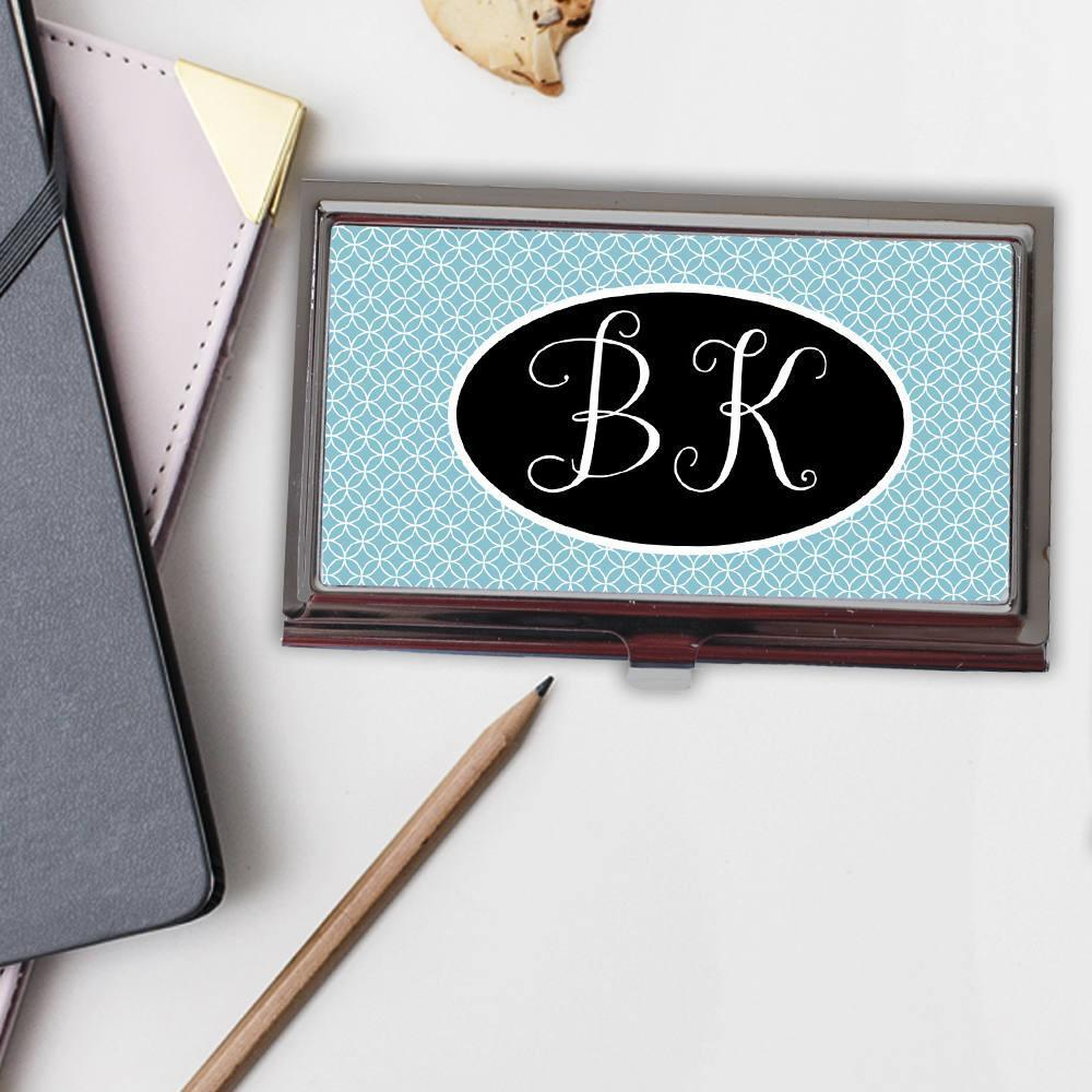 Monogram Business Card Case Monogram Gift For Her Business Card