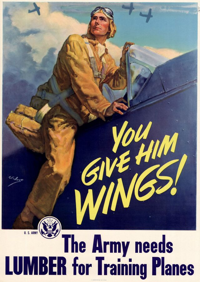 Keep Him Flying World War II US Military Vintage Style Giclee/' Canvas Poster