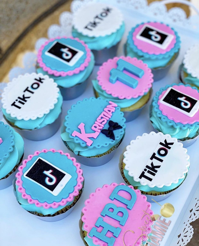 Tiktok Inspired Cupcakes Cool Birthday Cakes Cake Designs For Girl 12th Birthday Cake
