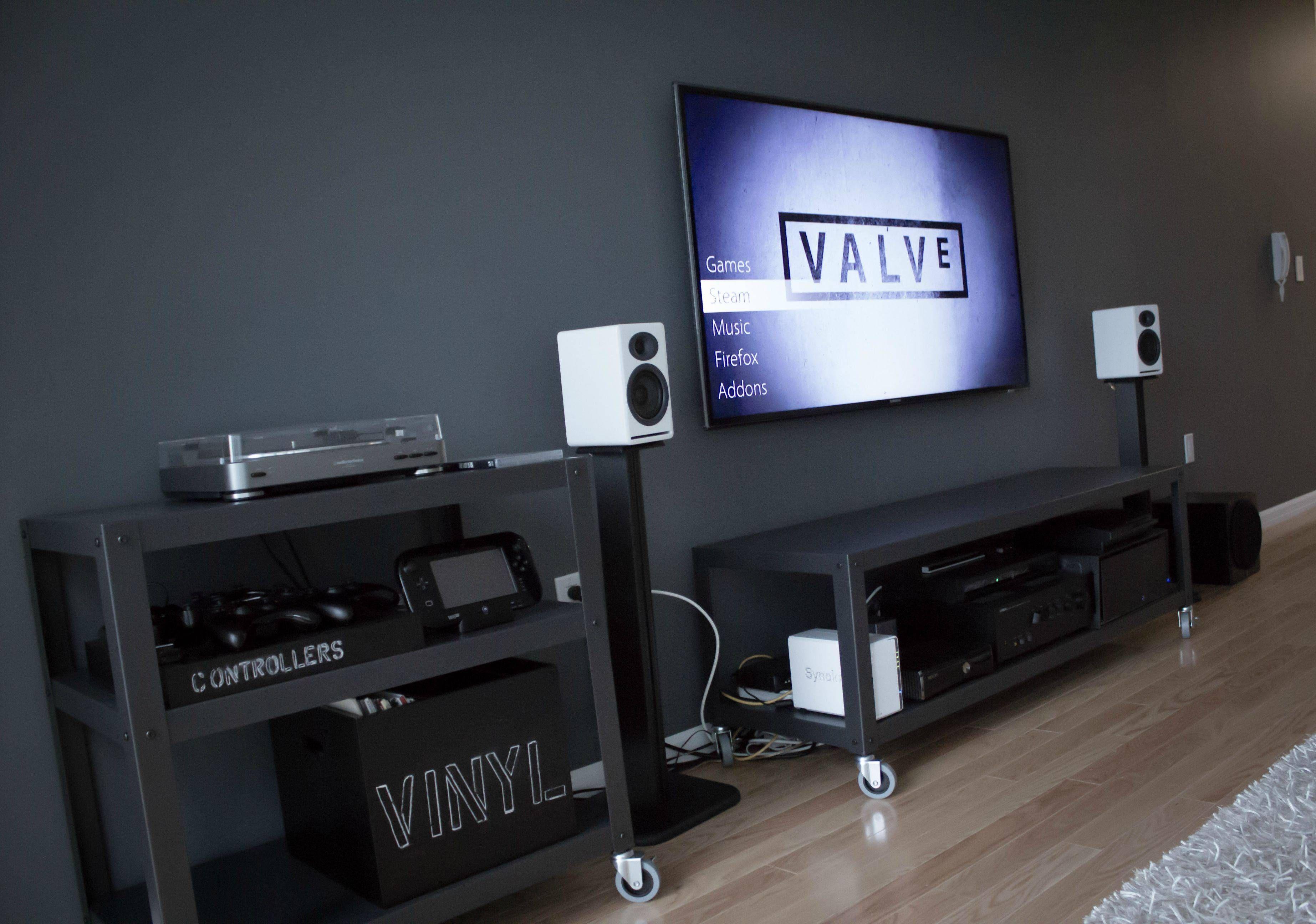 Battlestation Living Room Setup Room Setup Ikea Living Room #pc #living #room #setup