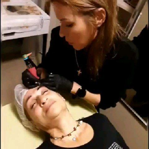 Permanent eyebrow application tattoo tattoo style makeup permanent mak