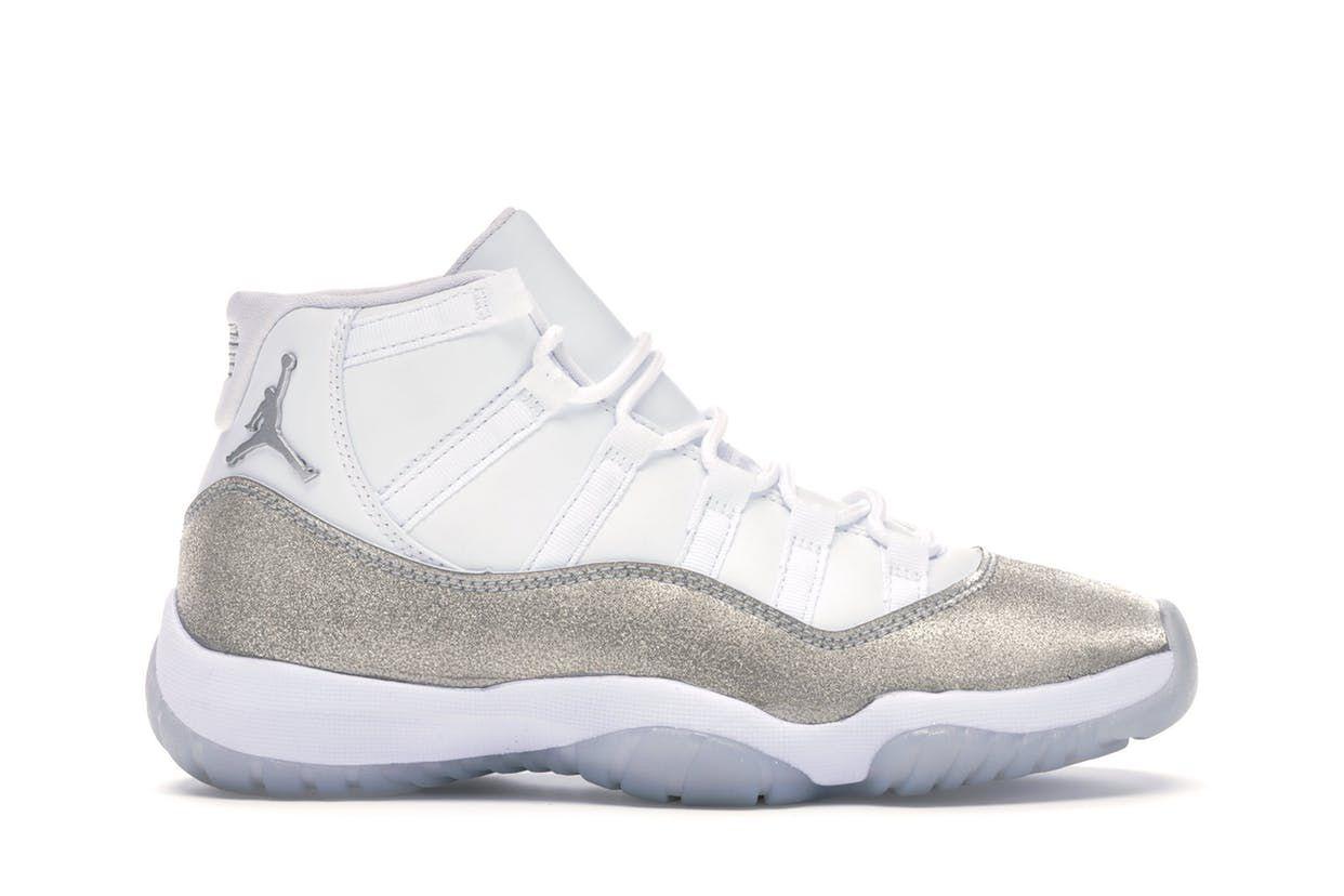 Check Out The Jordan 11 Retro White Metallic Silver W Available On Stockx Jordan Shoes Retro Jordan 11 Outfit Air Jordans Retro