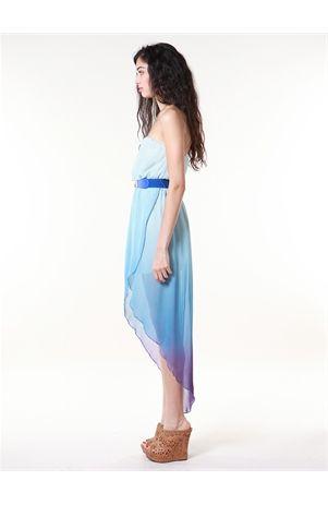 Ombre Wrap Hi Lo Dress Pretty :/ Sad summer is ending