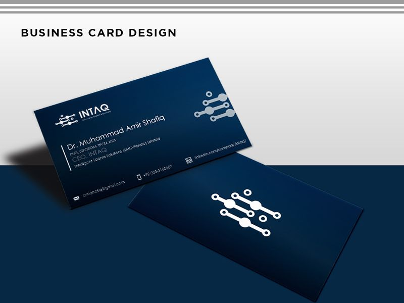 Business Card Design For Artificial Intelligence Company Ceo Business Card Design Ceo Business Card Cool Business Cards