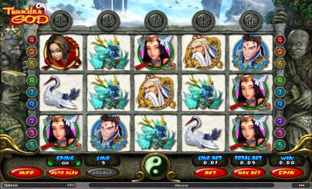 Game Slot Thunder God | Kartu, Main game, Game
